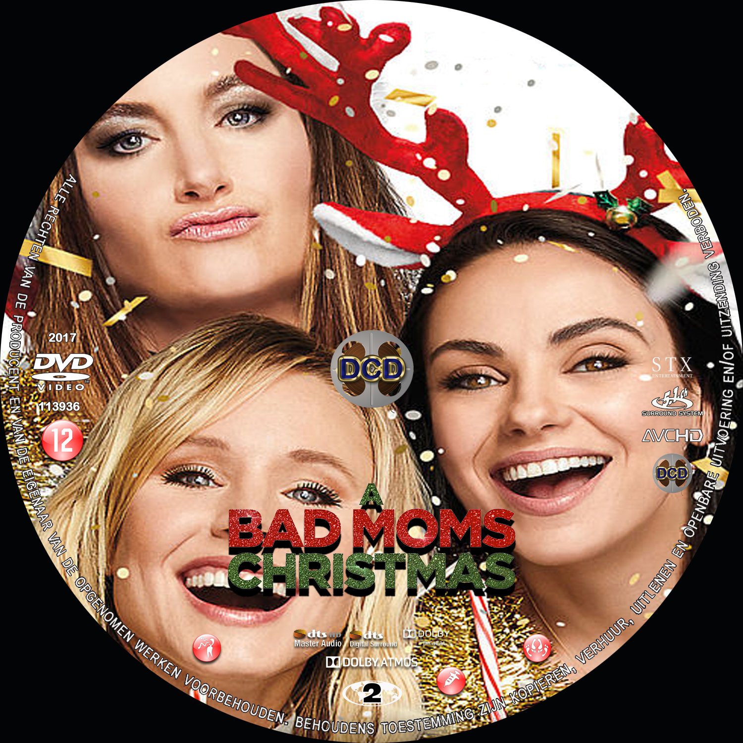 A Bad Moms Christmas Dvd Cover.A